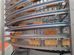 650mm面包冷却塔螺旋式网带
