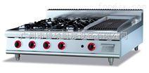 一機多用臺式燃氣四頭煲仔爐連火山石燒烤爐商用煲仔爐
