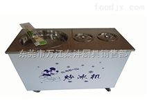 单锅带两桶炒冰机