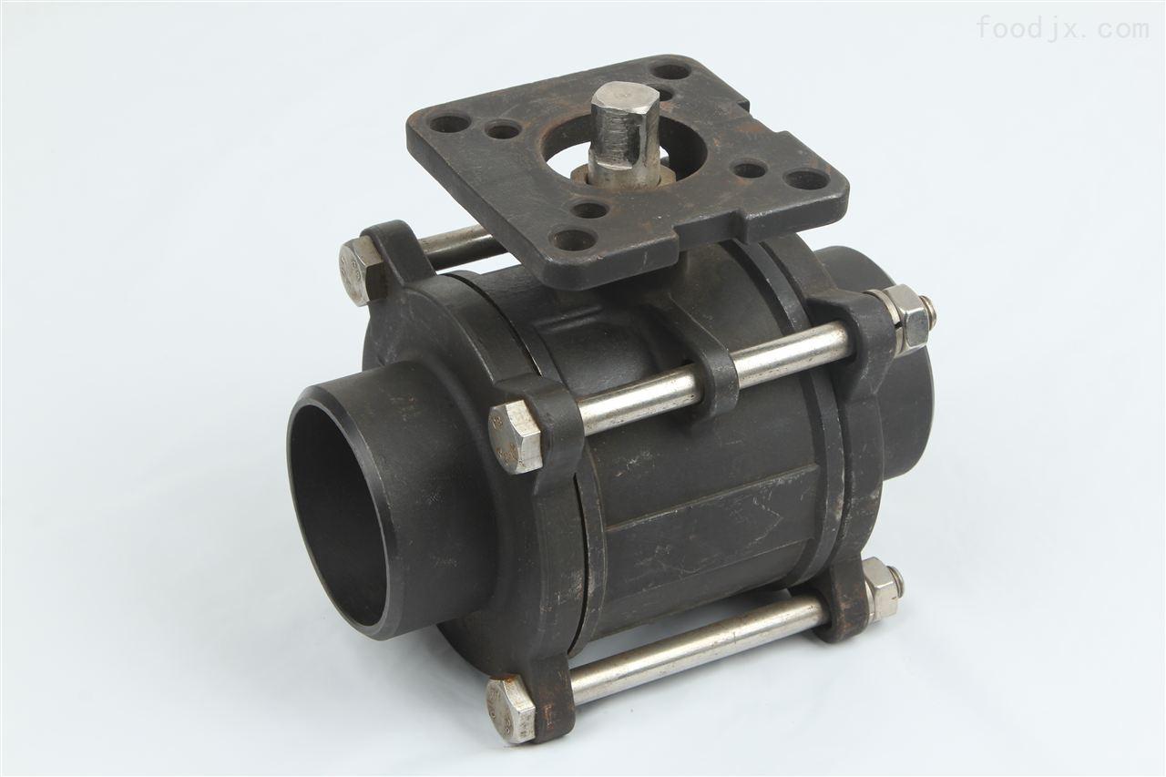 碳钢焊接高平台三片式球阀图片
