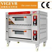 伟格商用燃气烤箱两层四盘 220v天然气面包烤炉烘焙设备