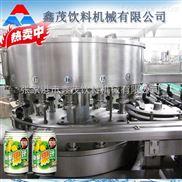 易拉罐果汁飲料生產線 全自動不含氣果汁飲料易拉罐熱灌裝生產線