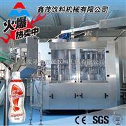 全自动果汁饮料生产线 果酒果醋饮料灌装生产线 三合一灌装机果汁三合一灌装机