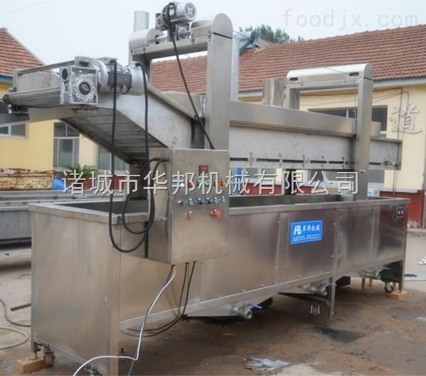 电加热薯条薯片油炸流水线 可调速连续式油炸机