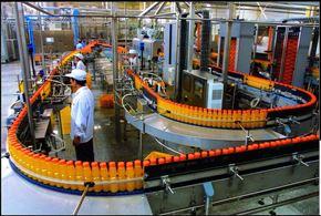 全自动果粒橙饮料灌装生产线