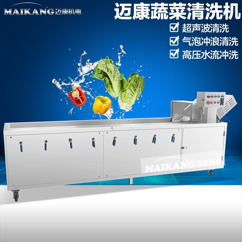 叶菜类蔬菜清洗机 气泡清洗机臭氧杀菌清洗风干线
