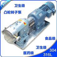 卫生级凸轮转子泵结构