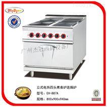 立式电热四头煮食炉连焗炉/酒店厨房设备