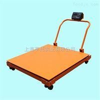 武汉2吨移动式电子地磅 3T带轮子移动磅秤