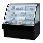 富祺豪华落地式双圆弧蛋糕展示柜水果冷藏柜