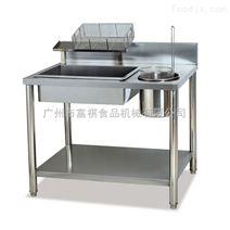 不锈钢商用手动炸鸡裹粉台机