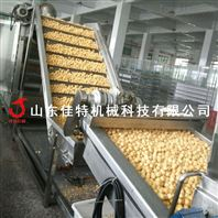 浙江流水线作业的高低温豆泡油炸机