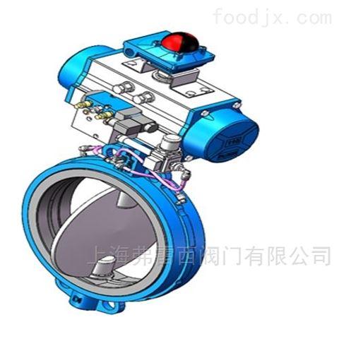 气动304不锈钢膨胀对夹蝶阀,电磁阀