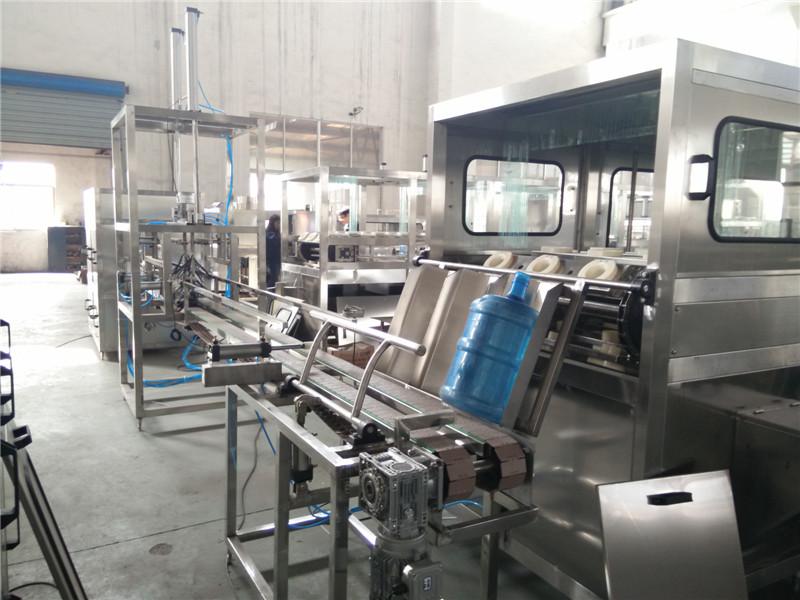 桶装线是专供5加仑桶装饮用水生产线的核心设备