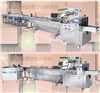 月饼自动包装机一拖三理料线包装封口机械