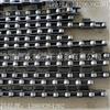 定制2寸大滚子弯板链条 单侧外弯双节距滚子输送链